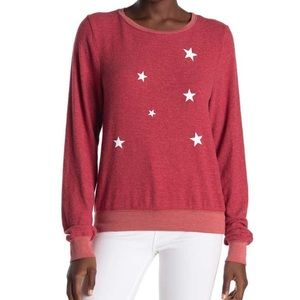 Wildfox star fall baggy beach pullover NWT medium